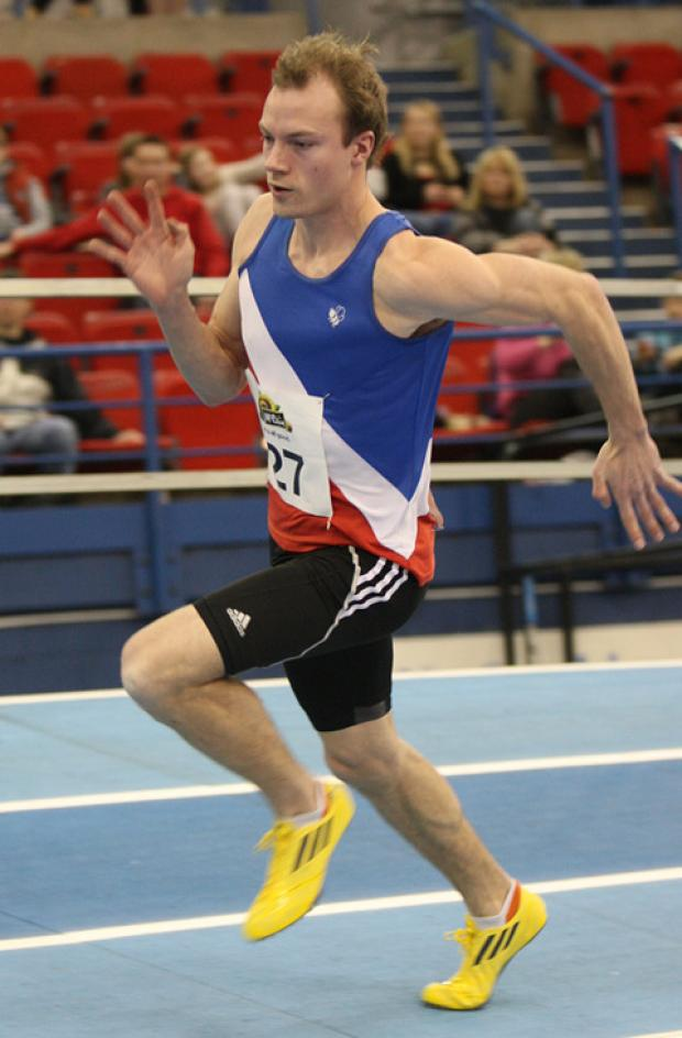 David Gain in indoor action