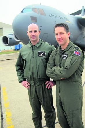 Sq Ldrs Spencer Wild, left, and Andy McIntyre who have been supporting the French operation in Mali
