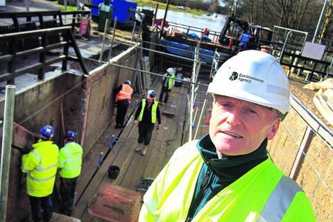 Environment Agency west Thames waterways engineer Paul Power at Abingdon Lock