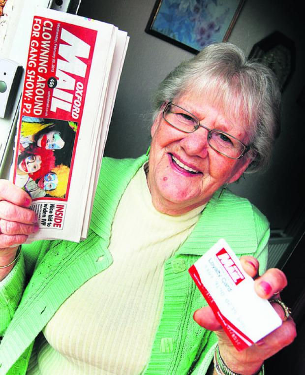 Beryl Cooper, from Littlemore, with her Oxford Mail Loyalty Card. Picture: OX57475 Ed Nix