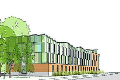 An artist's impression of the new branch