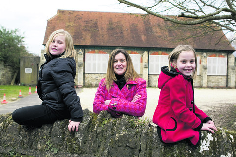 From left, Angel-Kay Parsons, nine, Natalie Ellis, who is going to be Brown Owl of the new Littlemore Brownie pack, and Skye Mills, eight