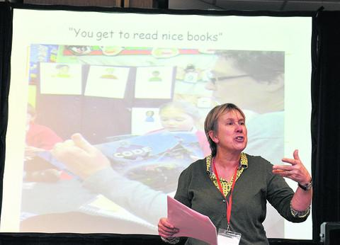 Oxford Mail: St Nicholas Primary School headteacher Rachel Crouch at the conference