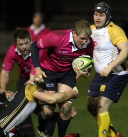 Michael Rickner on the charge for Oxford University last night