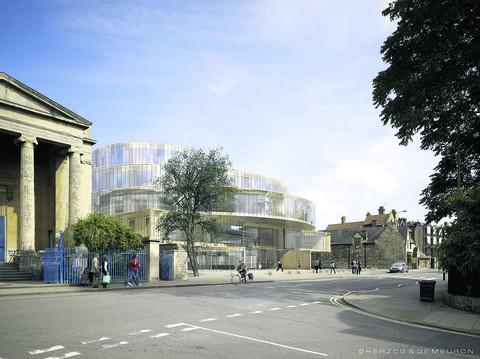An artist's impression of how the new Blavatnik building would look from Walton Stree