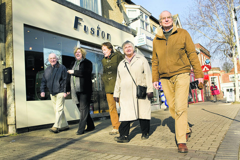 Among those helping to shape Headington's future will be, left to right, Peter West, Ruth Wilkinson, Patrick Coulter, Marie Vickers and Richard Bradley