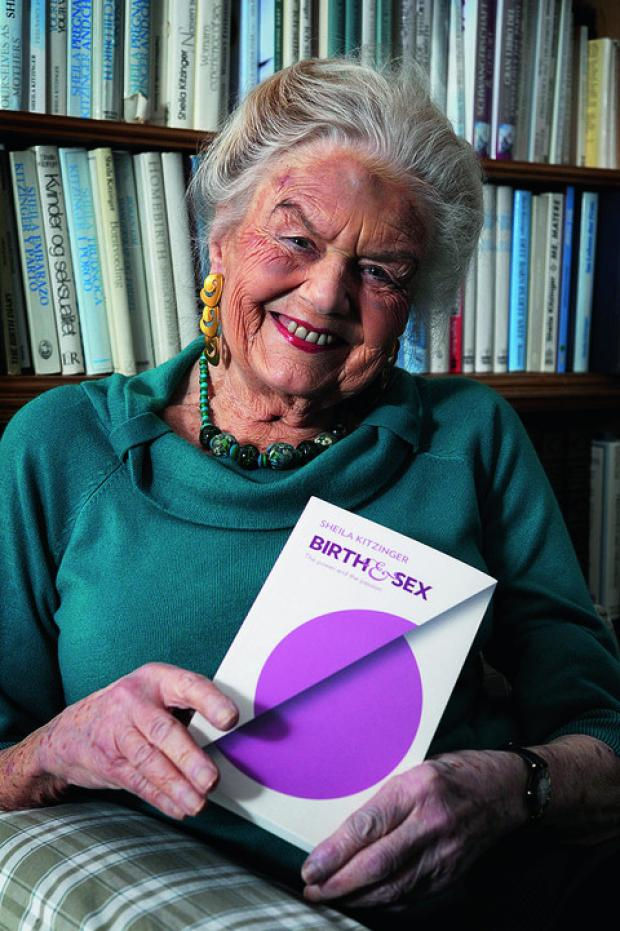 Sheila Kitzinger and her latest book