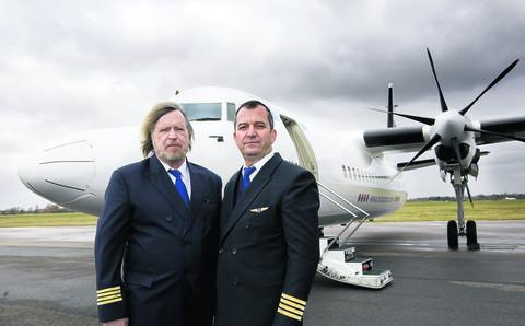 Miltiadis Tsagaraky and Nikolaos Tsakiris of Minoan Airlines. Picture: OX57637 Antony Moore