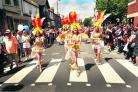 Samba dancers in Cowley Road during the 2010 carnival       Picture: Antony Moore