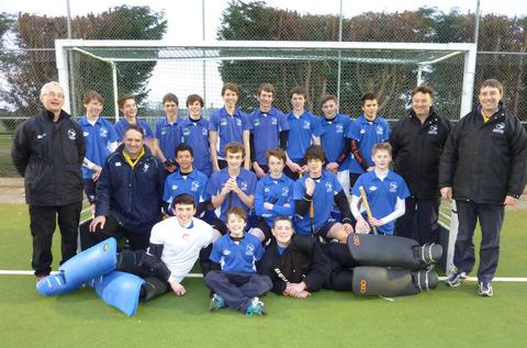 The victorious Oxford Under 16 side with coaches