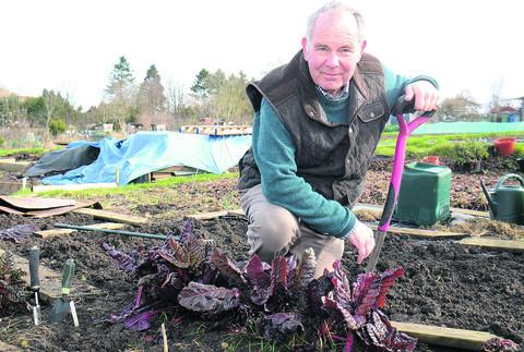 Chairman of Lenthall Road Allotment Association, Colin Sharp