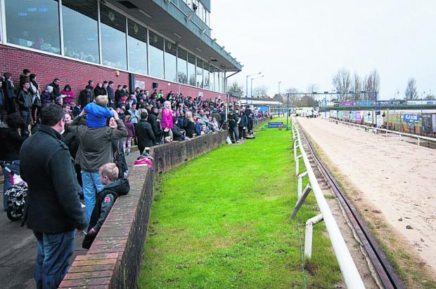 SUPPORT: Crowds at one of the last races before the stadium shut