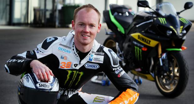 Bradley Smith with his Monster Tech 3 Yamaha