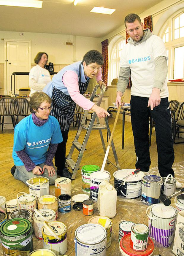 Village hall banks on volunteers for clean-up