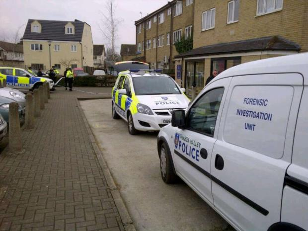 Police at the scene in Alvescot Road