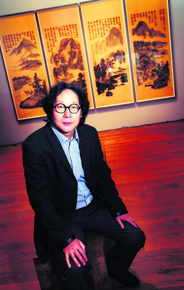 Artist Xu Bing and some of his work