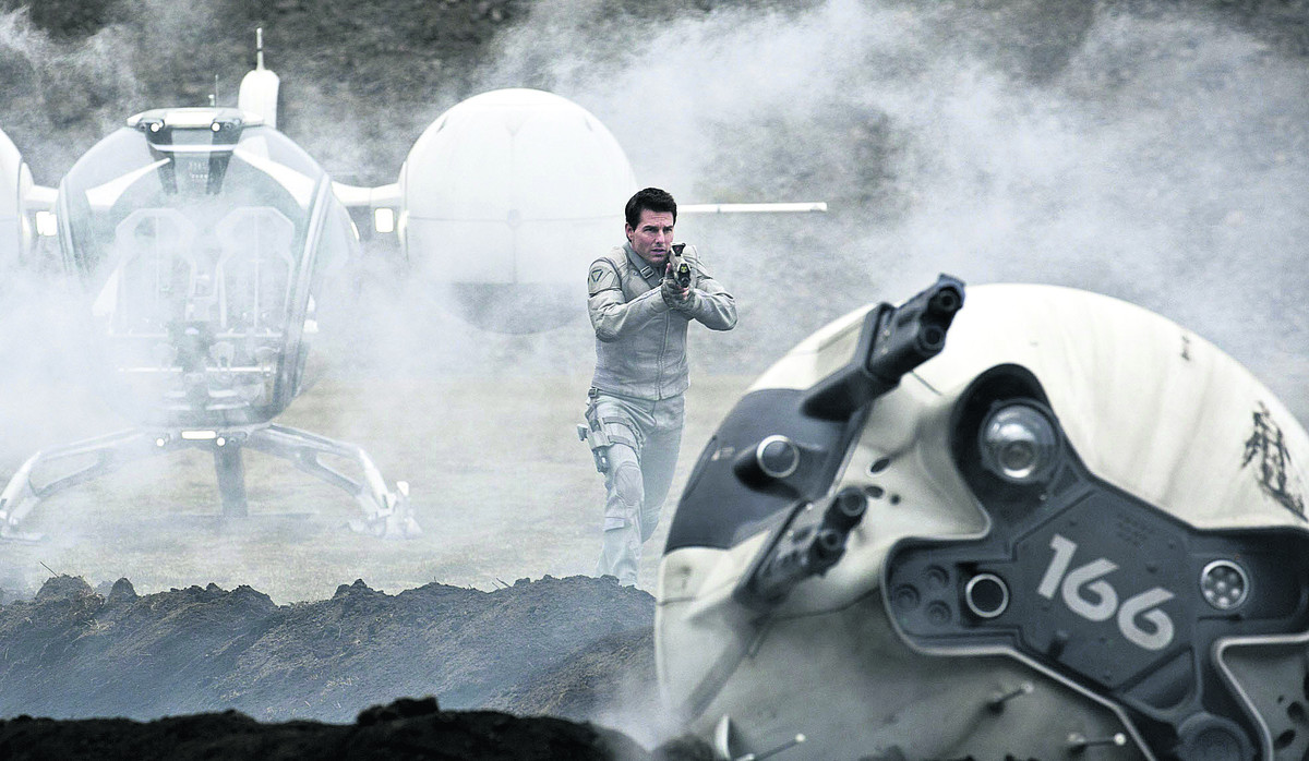 OBLIVION: Director Kosinski, who previously made TRON: Legacy, orchestrates the pivotal action sequences with breathless aplomb