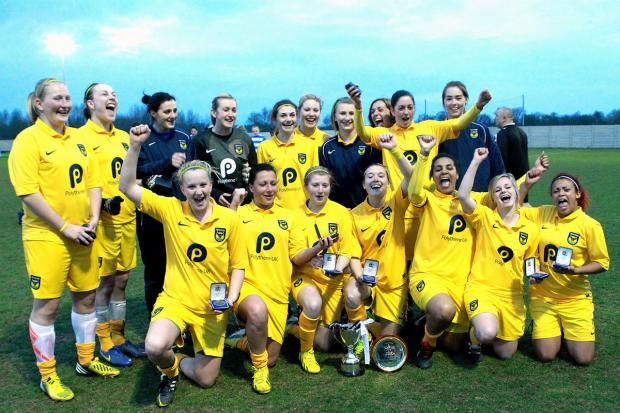 Oxford United Ladies celebrate their Oxfordshire Cup triumph
