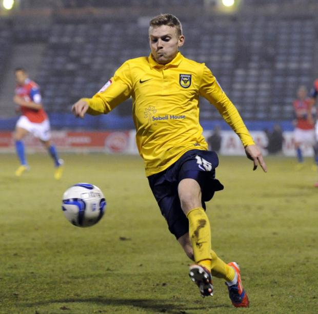 Alfie Potter could be playing his last game for Oxford United at Accrington Stanley today