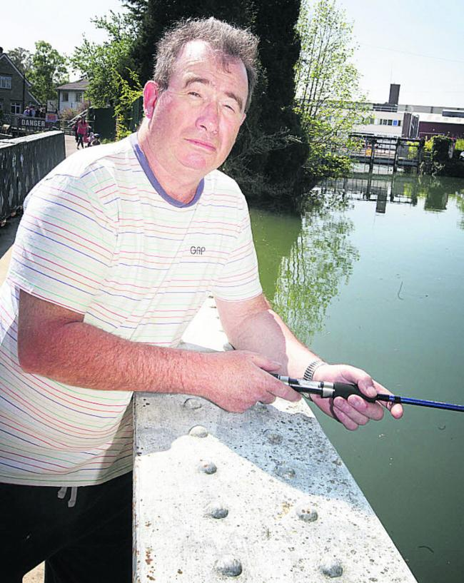 Angler, Andy Webber is concerned about hydro power schemes on the Thames impact on the fish
