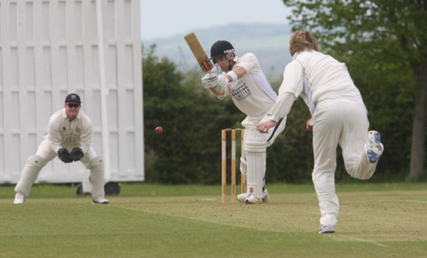 Tew's Joe White had hit 39 off 21balls before their cup tie with Chesham was washed out