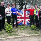 The teachers at The Blake School with the Union Flag