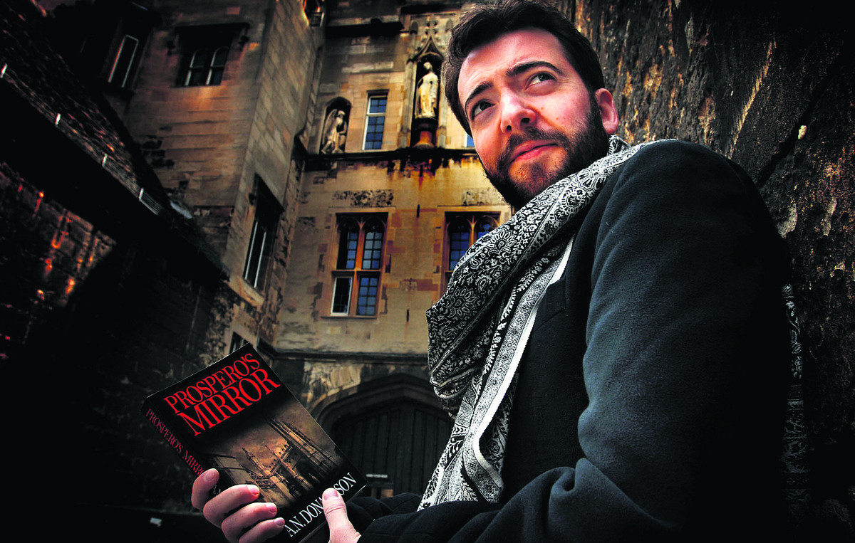 Writer Alasdair Donaldson in the ghostly setting of New College, where he studied