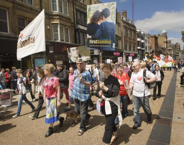 Oxford Mail: The Oxford Pride parade last year