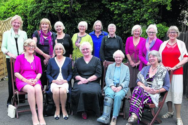 Oxford Mail: Back, from left: Maryann Hargreave, Prue Luget, Carol Hammond, Liz Reavley, Gill Cooper, Hilary Traylen, Maggie Moore, Maureen Fleming, Liz Casamento. Front, left to right: Ronnie Harrison, Nicky Brennan, Sue Buckingham, Marion King and Sandra Middleton