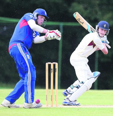 Callum Russell scored a century for Cumnor Under 17s