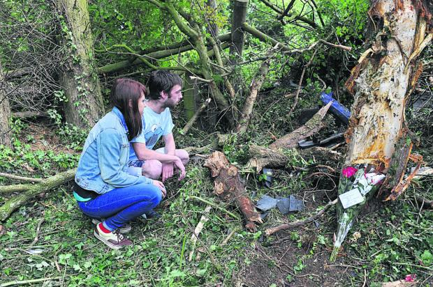 Oxford Mail: Tributes: The crash site