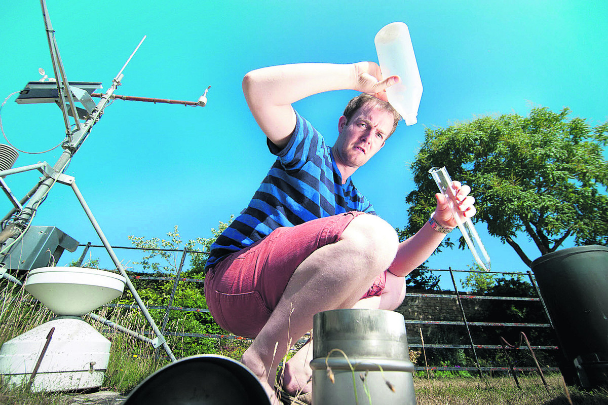 Ian Ashpole finds the rain gauge is empty again
