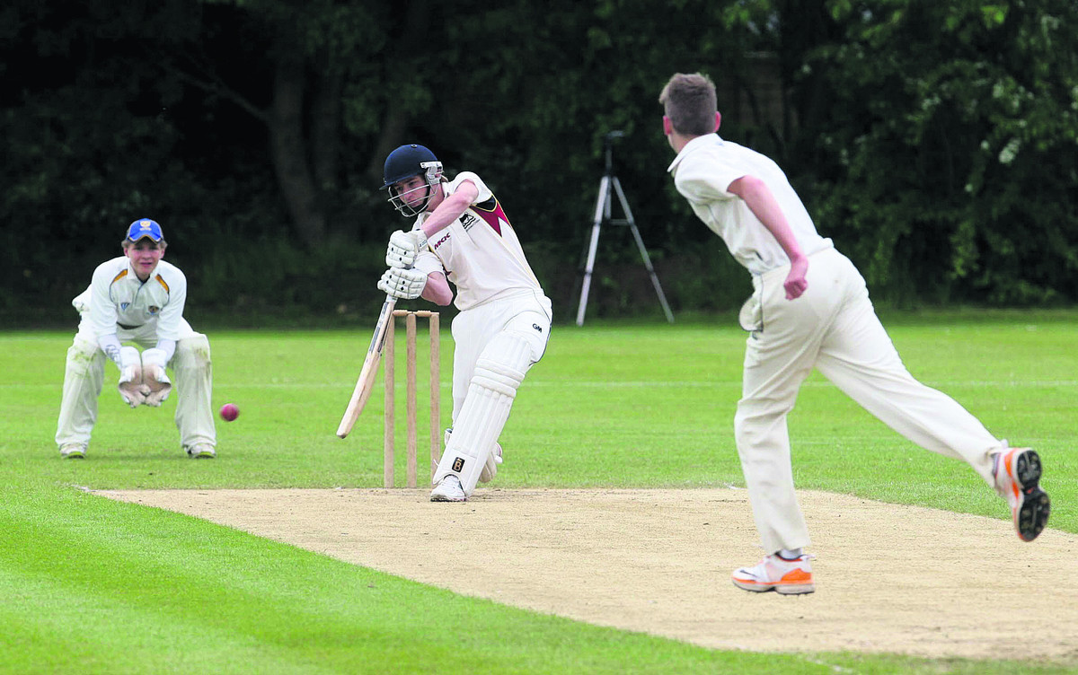 Adam Mayho was unbeaten on 45 when Charlbury's run chase came to a premature end
