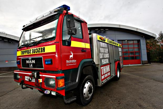 Fire engines called