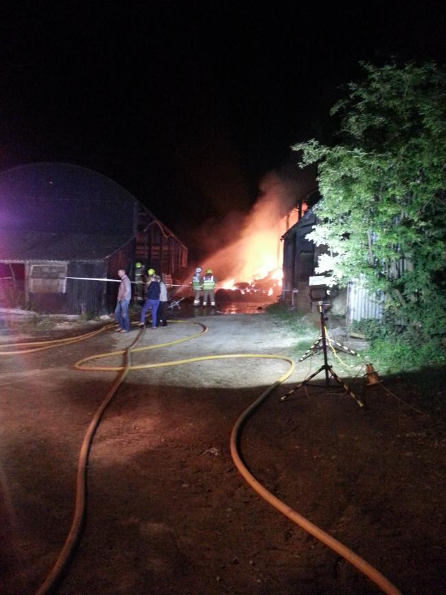 BLAZE: The scene of a fire involving 250 tonnes of hay in Forest Hill