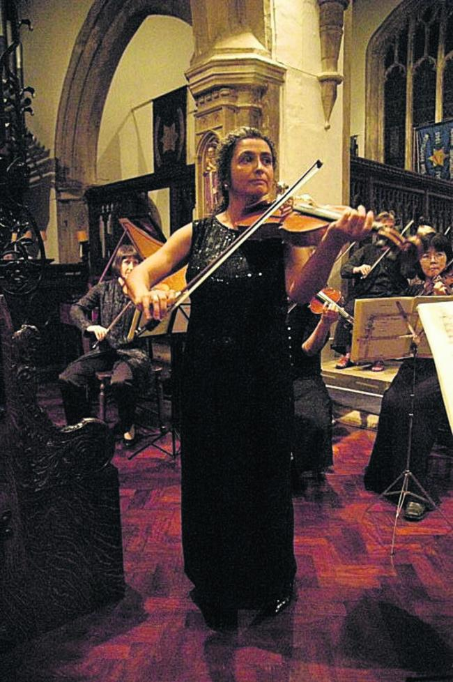 Oxford-based viola player Monica Cuneo