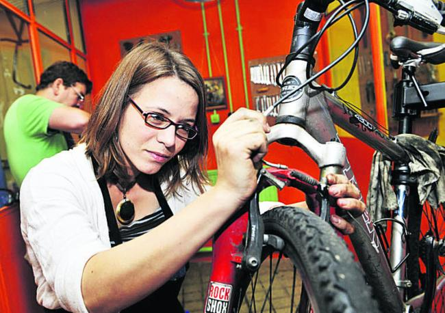 Kristin Schmidt, 28, is supporting the bike initiative