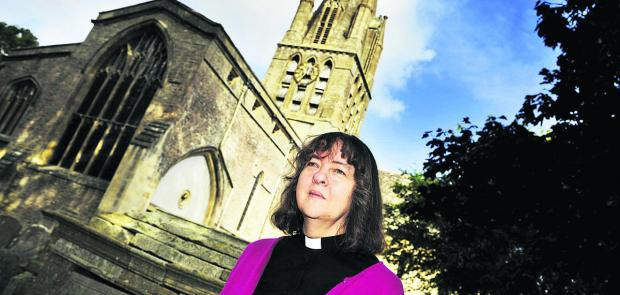 The Rev Joanna Collicutt at St Mary's Church in Witney, which has a room where older people meet. Picture: OX61231 Mark Hemsworth