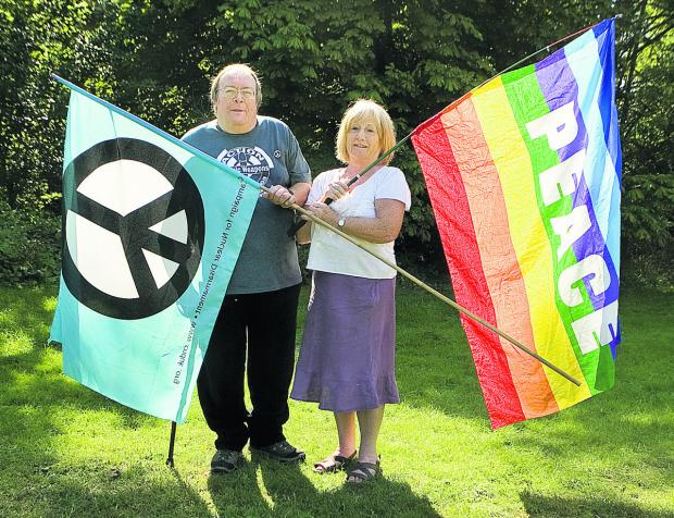 Oxford Mail: Nigel Day, of Oxford CND, and former city councillor Nuala Young