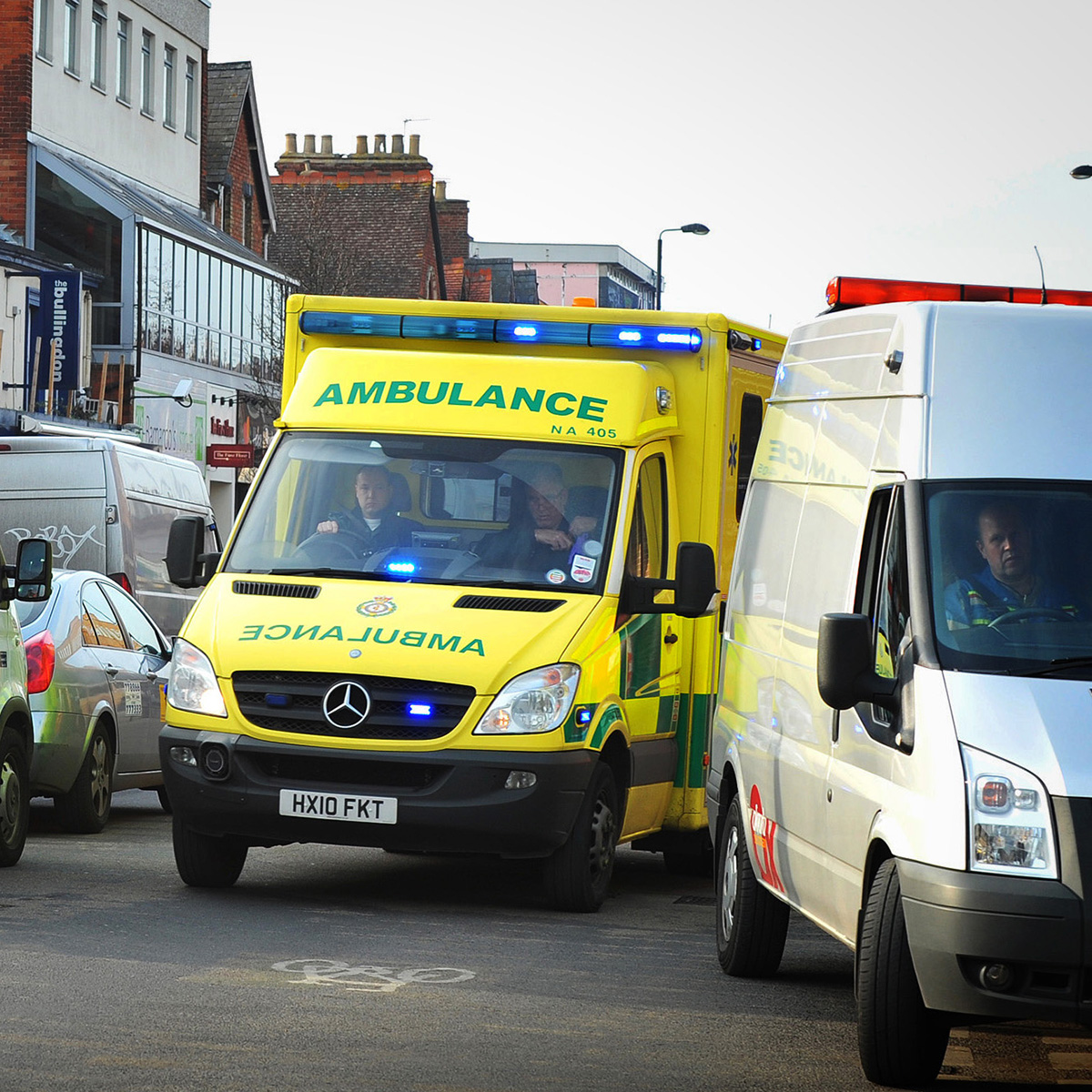 Man in 20s in hospital after collision with car in Barns Road, Oxford