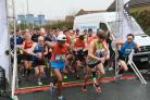 The start of today's Oxford Half Marathon