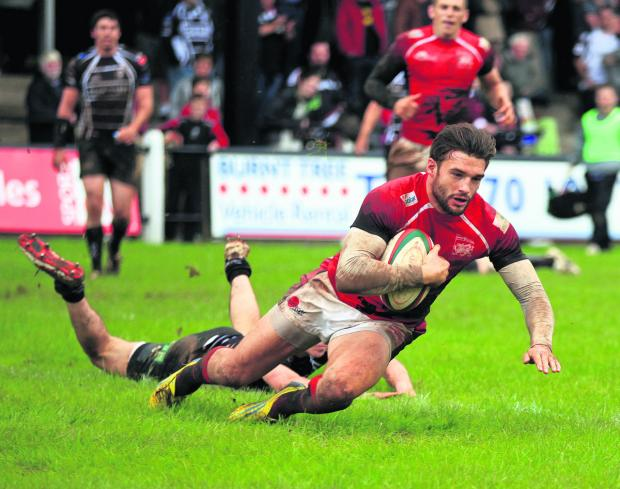 Seb Stegmann replaces Nick Scott on the wing for London Welsh tonight