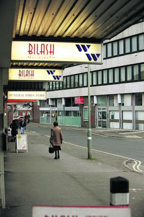 The West Way shopping centre in Botley as it