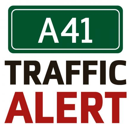 Accident causing delays on the A41