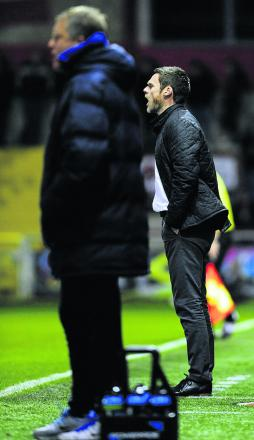Graham Alexander issues instructions to his Fleetwood side