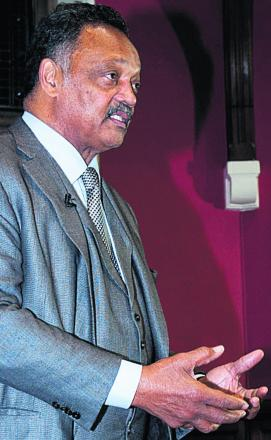 The Rev Jesse Jackson at the Oxford Union. Picture: Roger Askew