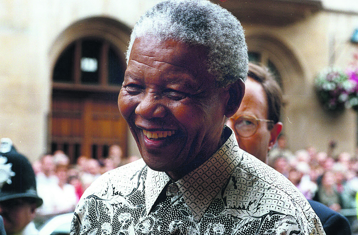 President Mandela at Oxford Town Hall in 1997