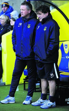 Mickey Lewis (right) with manager Chris Wilder