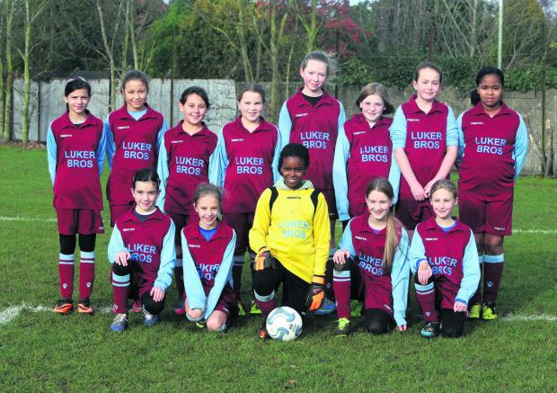 Oxford Mail: Quarry Rovers, who took over at the top of the Under 11 Oxford Mail Girls League with a 9-1 win against Kidlington