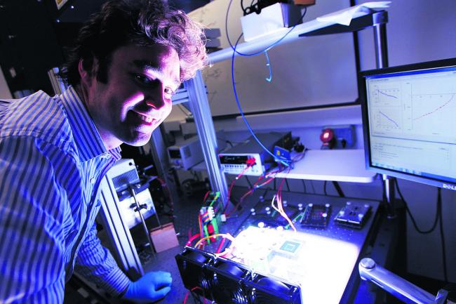 Dr Henry Snaith has been named as one of the 10 most influential scientists of the year for his work in developing solar power technology